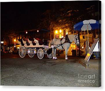 Canvas Print featuring the photograph Christmas Carriage by Bob Sample
