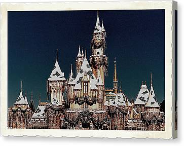 Christmas Castle Canvas Print by Nadalyn Larsen
