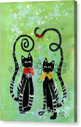 Christmas Cats Canvas Print
