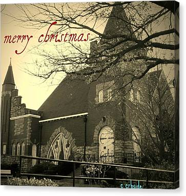 Christmas Chapel Canvas Print by Chris Berry