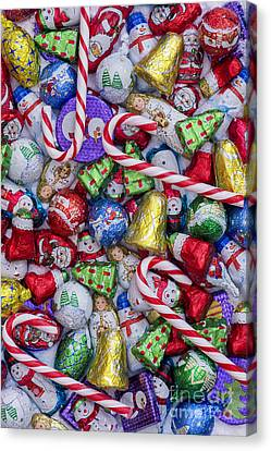 Father Christmas Canvas Print - Christmas Chocolates by Tim Gainey