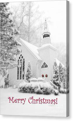 Historic Church Oella Maryland - Christmas Card Canvas Print
