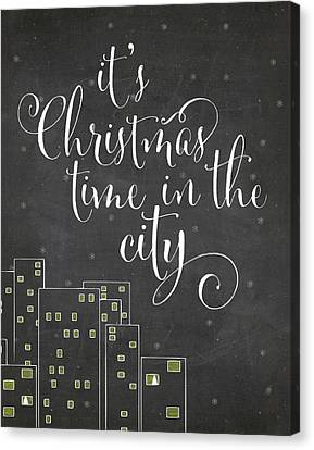 City Canvas Print - Christmas City by Amy Cummings