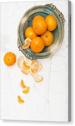 Christmas Clementines Canvas Print by Amanda Elwell