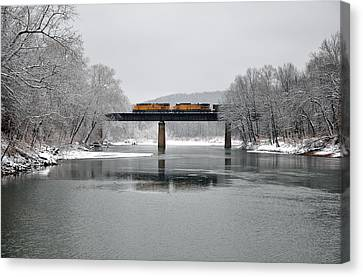 Christmas Coal Canvas Print by Matthew Chapman