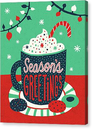 Christmas Cocoa Canvas Print by Michael Mullan