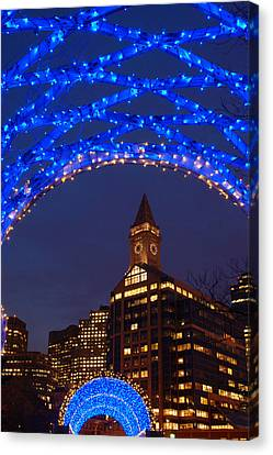 Christmas Coluimbus Park Boston Canvas Print by James Kirkikis
