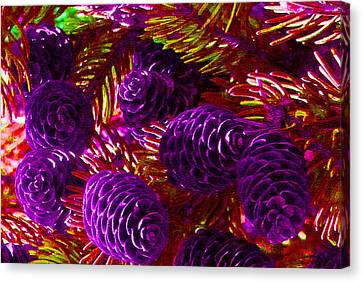 Christmas Cones Canvas Print by James Hammen