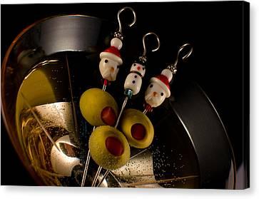 Christmas Crowded Martini Canvas Print