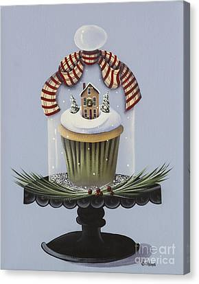 Christmas Cupcake Canvas Print