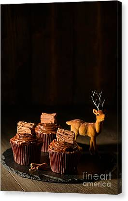 Christmas Cupcakes Canvas Print by Amanda Elwell