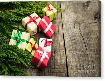 Christmas Decoration Canvas Print by Aged Pixel
