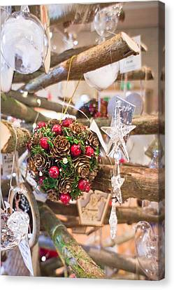 Holly Berry Still Life Canvas Print - Christmas Decoration by Tom Gowanlock