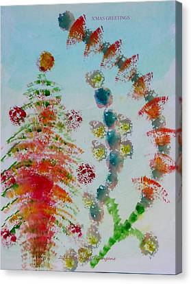 Decorated For Christmas Canvas Print - Christmas Decorations  by Sonali Gangane