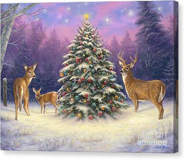 Canvas Print - Christmas Deer by Chuck Pinson