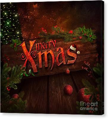 Christmas Design - Xmas Sign Canvas Print