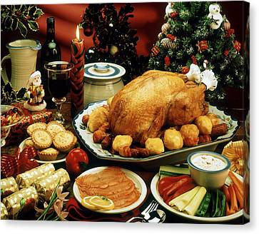 Christmas Dinner Canvas Print by The Irish Image Collection