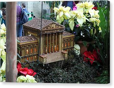 Christmas Display - Us Botanic Garden - 01133 Canvas Print by DC Photographer