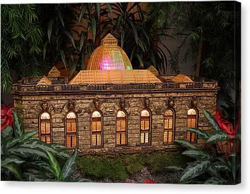 Christmas Display - Us Botanic Garden - 011356 Canvas Print