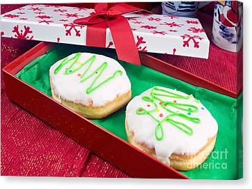 Christmas Jelly Donuts Canvas Print by Vizual Studio