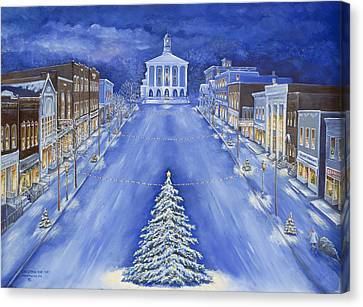 Public Holiday Canvas Print - Christmas Eve 1947 by Carol Angela Brown