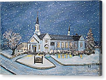 Christmas Eve At St. Jude Church Canvas Print