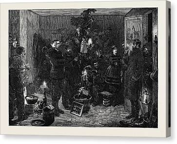 Christmas Eve At The Outposts Paris 1870 Canvas Print