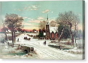 Christmas Eve Mass Canvas Print