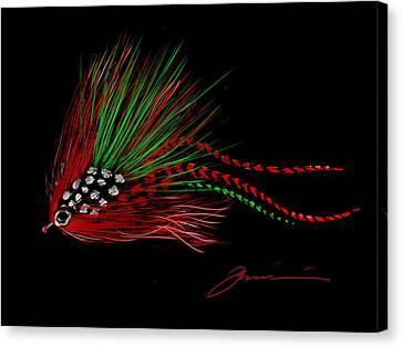 Christmas Fly Canvas Print by Jean Pacheco Ravinski