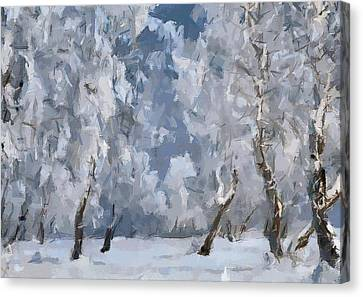 Christmas Forest 2 Canvas Print by Yury Malkov