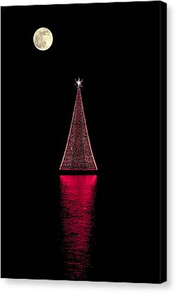 Christmas Full Moon Canvas Print by Sean Allen