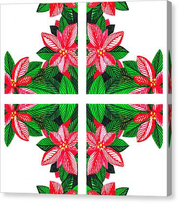 Christmas Cards Canvas Print - Christmas Gift by Irina Sztukowski