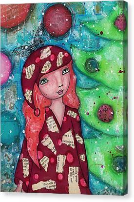Canvas Print - Christmas Girl by Barbara Orenya