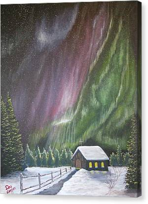 Canvas Print featuring the painting Christmas Glory  by Dan Wagner