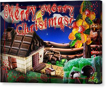Christmas Greeting Card Iv Canvas Print by Alessandro Della Pietra