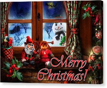 Slide Canvas Print - Christmas Greeting Card Vi by Alessandro Della Pietra