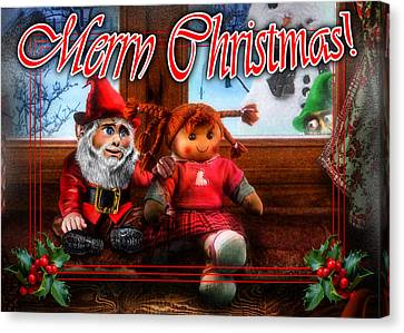 Slide Canvas Print - Christmas Greeting Card Vii by Alessandro Della Pietra