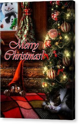 Christmas Greeting Card Viii Canvas Print