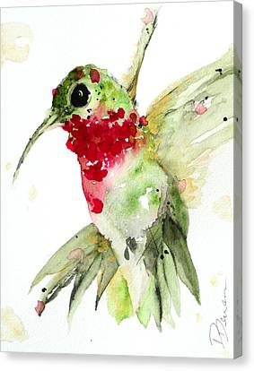 Christmas Hummer Canvas Print by Dawn Derman