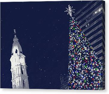 Canvas Print featuring the photograph Christmas In Center City by Photographic Arts And Design Studio