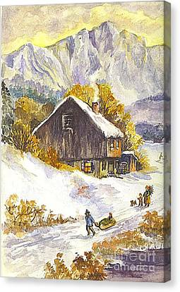 A Winter Wonderland Part 1 Canvas Print by Carol Wisniewski