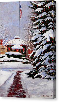 Christmas In Chagrin Falls Canvas Print