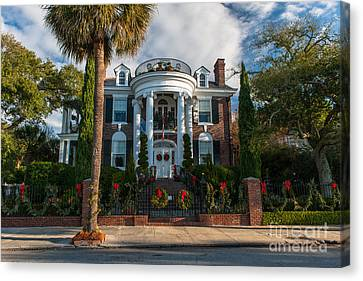 Christmas In Charleston Canvas Print
