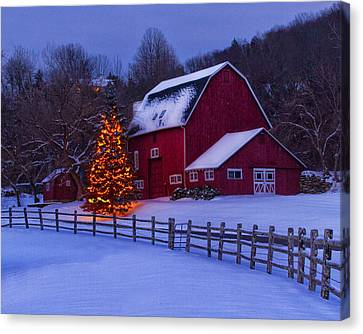 Litchfield County Canvas Print - A Very Connecticut Christmas by John Vose