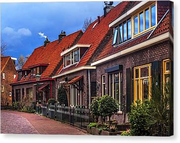 Christmas In Hoogvliet. Holland Canvas Print