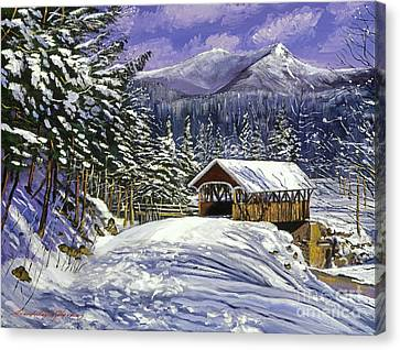 Christmas In New England Canvas Print by David Lloyd Glover