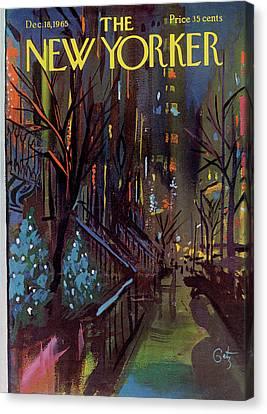 Christmas In New York Canvas Print by Arthur Getz