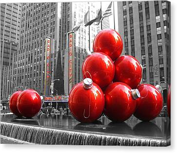 New York City - Christmas At Radio City Canvas Print