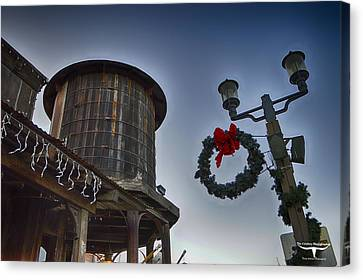 Christmas In Old Town Temecula 1 Canvas Print by Tommy Anderson