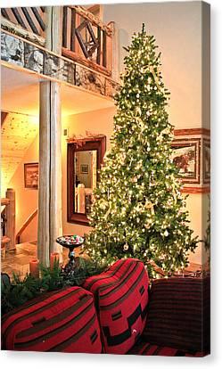 Christmas In The Adirondacks Canvas Print by Ann Murphy